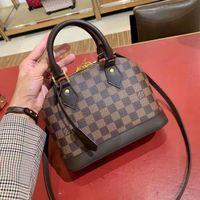 Wholesale checker boards resale online - Luxury limited edition checker board AlmaToronto handle handbag single shoulder shell bag