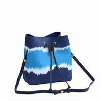 Best quality Tie-dye canvas Drawstring bags women NÉONOÉ Medium handbag totes brwon flower letter Shoulder crossbody Bags Clutch Bags M45126