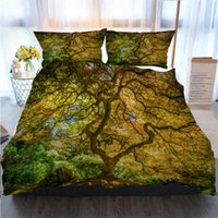 Wholesale japanese maples trees resale online - 3D Printed Merry Christmas Bedding Set Japanese Maple Tree Home Luxury Soft Duvet Comforter Cover