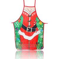 Wholesale santa claus apron for sale - Group buy Christmas Decorations for Home Santa Claus Christmas Apron Xmas Decor New Year Christmas Gift cm cm GGB2362