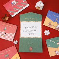 Wholesale greet cards for sale - Group buy Christmas Card Cartoon Merry Christmas Paper Envelope With Message Card Greeting Card Letter Stationary Gift BWA1980