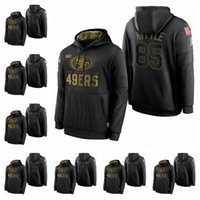 Wholesale black rice resale online - San Francisco ers George Kittle Nick Bosa Jerry Rice Salute to Service Sideline Performance Pullover Football Hoodie Black