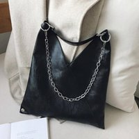Wholesale cool leather handbags resale online - Vintage Leather Shoulder Bags For Women Chain Designer Lady Crossbody Bag Female Cool High Capacity Solid Color Handbags