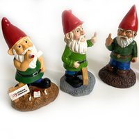Wholesale resin gnome resale online - 15 Styles Christmas Handmade Gnome Dwarf Decoration Elf Resin Toy Table Ornament Xmas Tree Decorations Gifts FWD2458