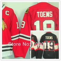Wholesale blackhawks jersey women resale online - 2014 Chicago Blackhawks Hockey Jerseys Jonathan Toews Red Black th Jerseys Sewing logos Custom Name Number Men Women Youth