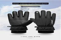 Wholesale warm waterproof gloves for men resale online - Ltoheyn Outdoor Waterproof Windproof Warm Riding Gloves For Both Men And Women Mountaineering Skiing Full Finger Gloves Q9067 bbylCo