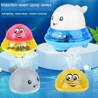 Wholesale bathtub toys for babies resale online - Baby Bath Toys Electric Inductive Water Spray Ball with Light Bathroom Bathtub Swimming Toys for Toddler Infant Children