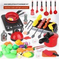 Wholesale chefs toy for sale - Group buy Children s Simulation Kitchen Set Toy Children Play House Kitchen Cookware Pot Pretend Chef Mini ABS Plastic Boy Girl Toy Gift LJ201009