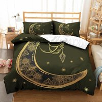 Wholesale hot 3d bedding set for sale - Group buy 3D Bohemia Hot Bronzing Pattern Duvet Cover with Pillow Cover Bedding Set Chinese Blessing Single Double Twin Full Queen King