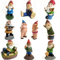 Wholesale resin gnome for sale - Group buy 15 Styles Christmas Handmade Gnome Dwarf Decoration Elf Resin Toy Table Ornament Xmas Tree Decorations Gifts HWC2923