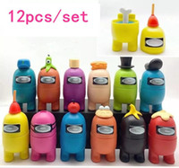 12pcs lot Among us game dolls figure model toys Computer desktop accessories Christmas gifts for childrens New Year Gifts