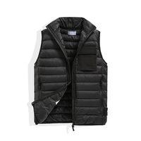 Men Mens and women's Vests No hat Sleeveless Jacket Cotton-Padded Autumn Winter Casual Coats Male Waistcoat bodywarmer European American fashion brand