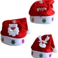 Wholesale Christmas Santa Costume Party Red Hat Cap Kids Child Christmas Xmas Party Cute Cap New Year Gifts Decor For Kids Adult Christmas Hat