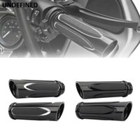 Wholesale sportster 883 xl for sale - Group buy Motorcycle Hand Grips Shallow Cut Black Soft Touch Comfort Handle Grip Set For Touring Sportster Xl Dyna Vrsc Softail Custom