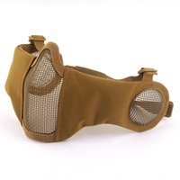 Wholesale steel mesh half face mask for sale - Group buy Skeleton Mask Steel Protection V14 Mouth Face Protection Mesh Wire Riot Mask Tactical CS Half Wire Riding g2M8 Xcbwq