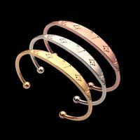 Wholesale mens silver cuff bracelet resale online - Luxury Designer Jewelry Women Bracelet Gold Silver Mens Cuff Punk Flower pattern Jewelry suits stainless Steel Fashion Ins Star Style