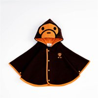 Wholesale kids pashminas for sale - Group buy Classic Apes Baby Shawls Thicken Warmer Kids Pashmina Autumn Winter Velvet Coats Fashion Button Accessories Outerwear Child Cotton Poncho