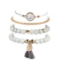 Wholesale crystal turtle charms resale online - Mix Turtle Handmade Heart Pearl Wave Love Crystal Marble Charm Bracelets For Women Boho Tassel Bracelet Jewelry Gifts wmtVee
