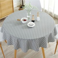 Wholesale christmas dec for sale - Group buy Round Nordic Tablecloth Cotton Linen Washable Hotel Banquet Cloth for Wedding Party Christmas Table Cover Home Dec R056