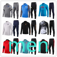entraînement de soccer à manches longues achat en gros de-homme foot survêtement survetement maillots maillot juventus jerseys kit ac milan inter soccer training long sleeve soccer jersey veste de football tracksuit tuta napoli