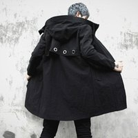 men raincoat trench 2021 - Trench coat with men's, fashion casual high-hip trenchcoat for men, raincoat, spring Autumn, long coat for M-XL1