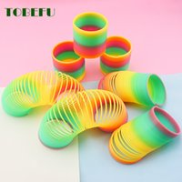 Wholesale rainbow circle toy resale online - TOBEFU PC Rainbow Circle Funny Toys Early Development Educational Folding Plastic Spring Coil Children s Creative Magical Toys