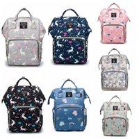 Wholesale strollers bag resale online - Diaper Bag Mommy Backpack Waterproof Mommy Nappy Bag Large Capacity Travel Backpack Baby Nursing Stroller Bags With Hook CCD2121