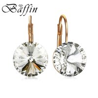 Wholesale swarovski earrings resale online - Baffin Classic Bella Stud Earrings Crystals From Swarovski Fashion Gold Silver Color Round Piercing Party Jewelry for Women Gift