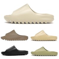 Wholesale mans slipper for sale - Group buy kanye slides men women slippers runner Slide Resin Bone Desert Sand triple black fashion men slides beach