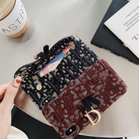 Wholesale Beautiful knitted wallet durable and drop resistant mobile phone case suitable for iPhone Pro X XS Max XR plus