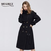 canvas trench 2021 - MIEGOFCE Spring New Collection Womens Cloak Warm Windproof Womens Coat Spring Trench Spring Windbreaker with Buttons 201015