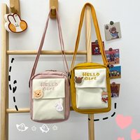 ingrosso nuova foto coreana ragazza-NEW Real Photo Japanese Harajuku Style Antique Soft Girl Messenger Bag Female Korean Ins Cute Girl Heart Wild Student Small Bag