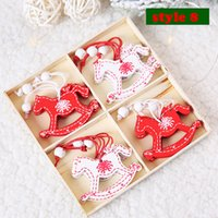 Wholesale natural christmas ornaments resale online - With Rope New Year Natural Wood Christmas Ornaments Pendants Hanging Gifts Xmas Tree Decor Home Decoration CCB1877