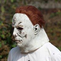 halloween michael myers achat en gros de-Halloween Michael Myers Masque Horreur Carnaval Masque mascarade Cosplay Adulte Plein Casque Halloween Party Masques Major Effrayant RRA3672