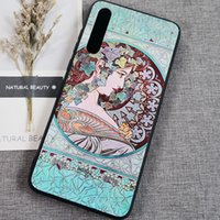 Wholesale baroque paintings for sale - Group buy 2020 Baroque oil painting sanding girl for iphone Pro Max XS X s splus plus cases
