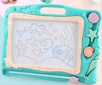 Wholesale drawing ocean resale online - Magnetic Drawing Board Drawing Sketch Pad for Kids Ocean Theme Big Size Painting Writing Doodle Board for Toddlers Baby Creative Educationa