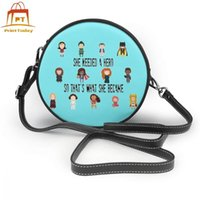 Wholesale hero leather for sale - Group buy Hero Shoulder Bag So Thats What She Became Leather Bag High quality Crossbody Women Bags Trendy Teen Womens Print Round Purse