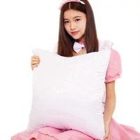 Wholesale bedding heating for sale - Group buy 40 cm Sublimation Pillowcase DIY Heat Transfer Printing Pillow Cover Blank Pillow Cushion Without Insert Home Bedding Supplies LJJP761