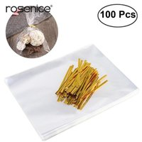 Wholesale designer jelly candy bag resale online - Cellophane Jelly Chocolate Treat Ties Twist With Clear Bread Golden Bags Candy yxltsg loveshop01