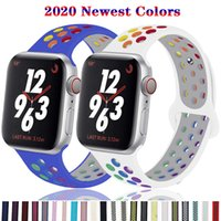 Wholesale 42 mm sports watches for sale - Group buy Strap for Apple watch band mm mm mm mm Accessories Silicone belt Sport bracelet iWatch series SE mm