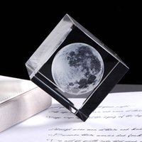 Wholesale crystal laser engraved for sale - Group buy Luxury D Laser Engraved Moon Crystal Cube K9 Crystal Craft Sphere Design Home Decor Ornament Globe Birthday Gift Decoration Accessories