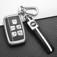 Discount key covers for range rover Soft Tpu Car Key Case Shell Cover Set Land Range Rover Sport Evoque Freelander2 for Jaguar Xf Xj Xjl Xe C-x16