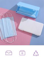 Wholesale masks japan for sale - Group buy New Home Dustproof Case Portable Disposable Face Masks Container Safe Pollution Free Disposable Mask Storage Box Storage Organizer DWE1241