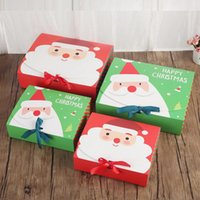 Wholesale wooden christmas boxes resale online - Christmas Eve Big Gift Box Santa Claus Fairy Design Kraft Papercard Present Party Favor Activity Box Red Green New Year Package Boxes DHL