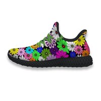 cute athletic shoes 2021 - 4D Running Shoes Cute Colorful Bright Daisy - Custom Printing Mens Classic Non-Slip Air Mesh Upper Casual Athletic Walking Running Sneaker