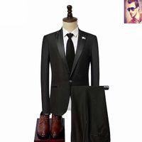 Wholesale piping for wedding dress resale online - Fashionable groom dress tuxedo handsome groomsmen beige suit suitable for suit wedding men s blazer pants vest tie