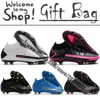 Wholesale soccer football boots soft ground resale online - Phantom GT Dynamic Fit Elite FG Mens Soccer Shoes Outdoor Football Cleats Firm Ground Leather Trainers Spikes High Ankle Socks Soccer Boots