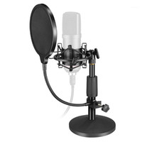 bm 800 Condenser Microphone Tabletop Stand Mount Universal USB Computer Microphone Holder Filter Heavy Metal Base1