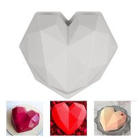 3D Heart Shape Diamond Love Chocolate Moulds Candy Mold For Wedding Baking Mousse Dessert Silicone Candy Molds
