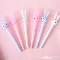 Wholesale kids korean pens resale online - 0 mm Cute Gel Pens Lovely Cartoon Rabbit Pen For Kids Gift Korean Style Stationery Student Writing Office Supplies